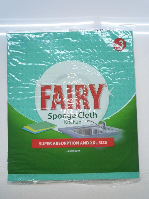3 Fairy (dreft) vaatdoekjes 20x18cm