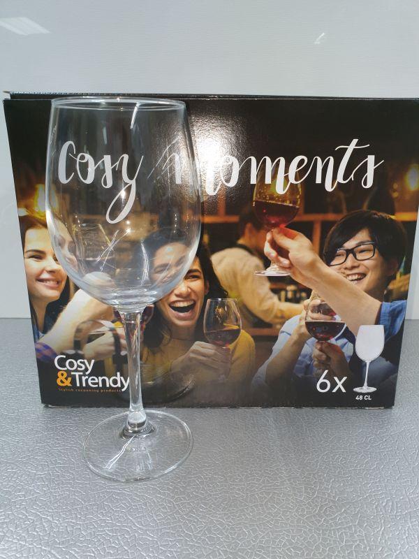 6 wijn glazen 36cl cosy moments
