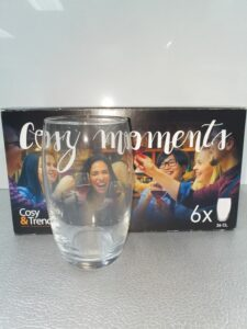6 waterglazen 36cl cosy trendy
