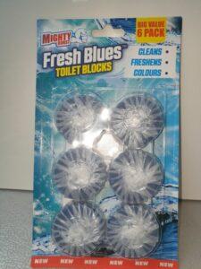 6x50g MIGHTY BURST FRESH BLUE ronde blokjes