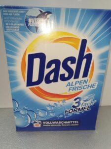 Dash 2.6kg=40d.