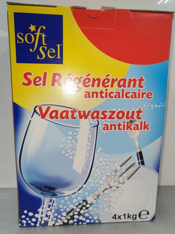 Soft sel vaatwasmiddel 4x1kg